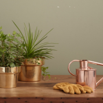 copper plant pots